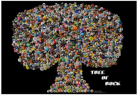 Tree of Rock Buttons by Gdogs Cosmic Rock Poster Poster