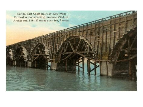 Trestle to Key West, Florida Art Print