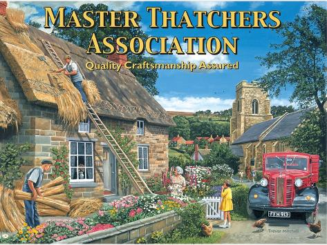 Master Thatcher Tin Sign