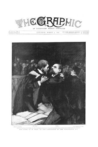 Trial of Emile Zola, French Author, 1898 Giclee Print