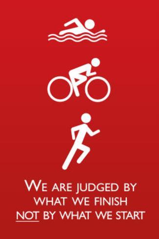 Triathlon Motivational Quote Sports Poster Print Masterprint
