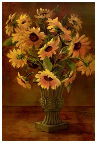 Mediterranean Sunflowers II Art Print
