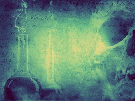 Mystery and Alchemy Background. Retro Stale. Photographic Print