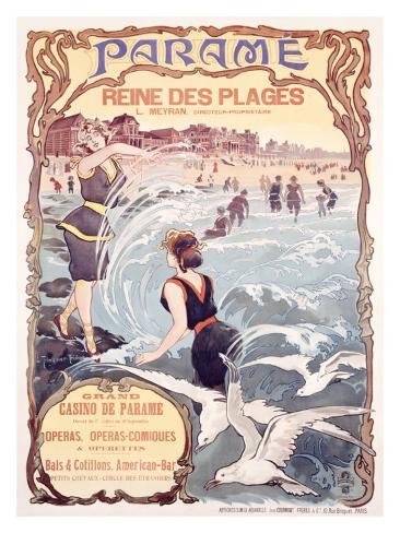 Parame French, Beach Casino Giclee Print