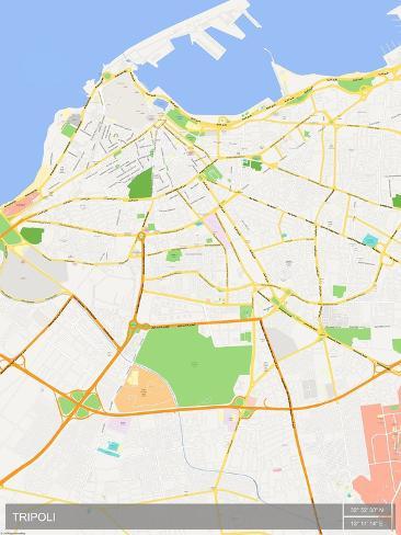 Tripoli libya map print allposters tripoli libya map publicscrutiny Images