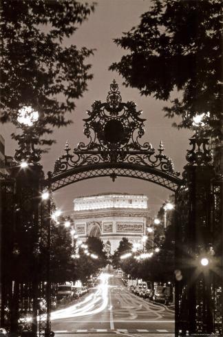 Triumfbågen, Paris, Frankrike Poster