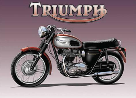 Triumph Bike Tin Sign
