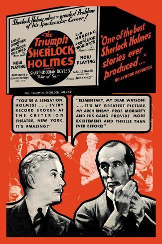 Triumph of Sherlock Holmes Vinilo decorativo
