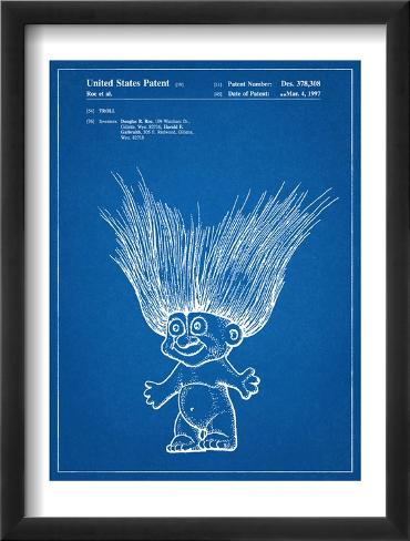 Troll Doll Patent Framed Art Print