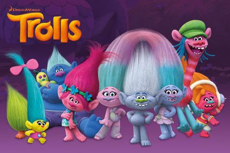Trolls- Characters Poster