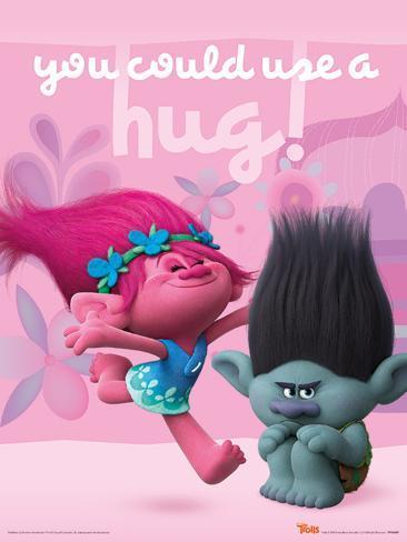 Trolls- Hug Poster