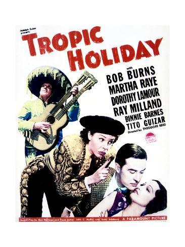 Tropic Holiday - Movie Poster Reproduction Premium Giclee Print