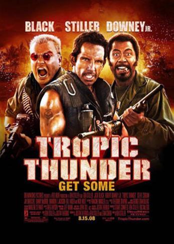 Tropic Thunder Dubbelsidig poster
