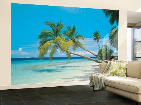 Tropical Maldives Huge Wall Mural Poster Print Wall Mural