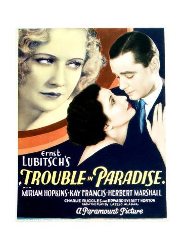 Trouble in Paradise - Movie Poster Reproduction Stampa artistica