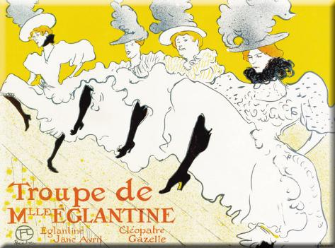 Troupe De Mlle'Eglantine Tin Sign