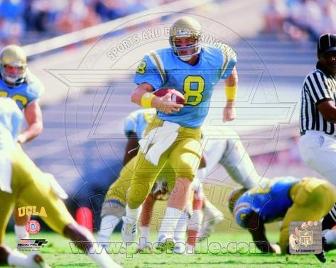 Troy Aikman UCLA Bruins 1988 Action Photo