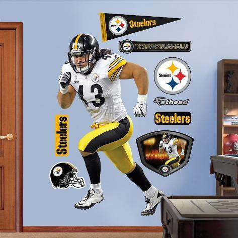 Troy Polamalu 2011 Edition White Wall Decal