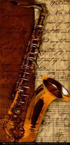 Sax, Symphony I Art Print