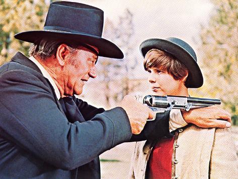 True Grit, John Wayne, Kim Darby, 1969 Photo