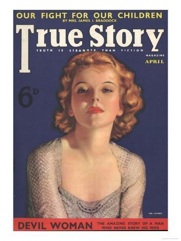 True Story, Pulp Fiction Magazine, USA, 1930 Giclee Print