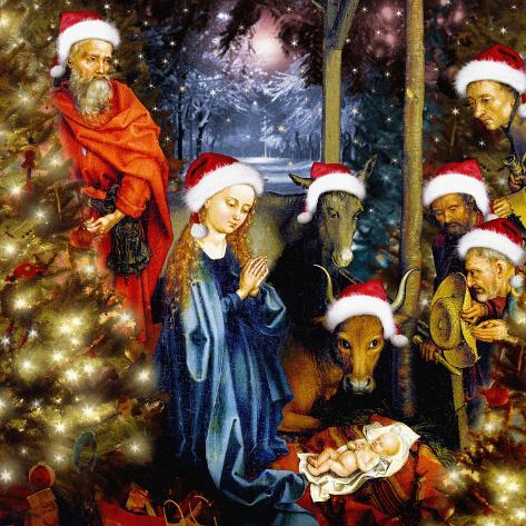 Christmas in the Stable, 2008 Giclee Print