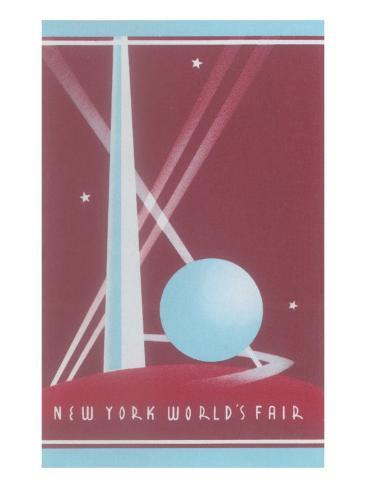 Trylon and Perisphere, New York World's Fair Stretched Canvas Print