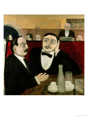 The Intellectuals at the Cafe Rotonde, 1916 Giclee Print