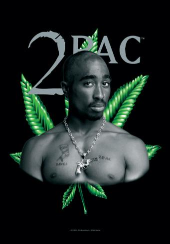 Tupac - Herb Fabric Poster