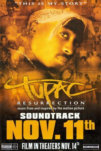 Tupac: Resurrection - Colonna sonora Poster originale
