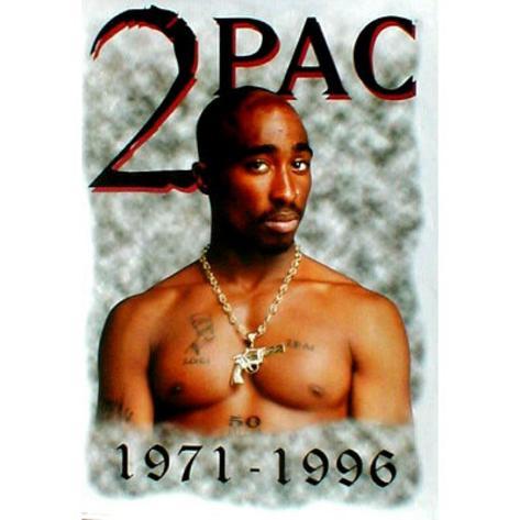 Tupac Shakur 1971-1996 POSTER 2pac rap hip-hop RARE RIP Poster