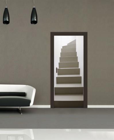 Turning Staircase Door Wallpaper Mural Mural de papel de parede