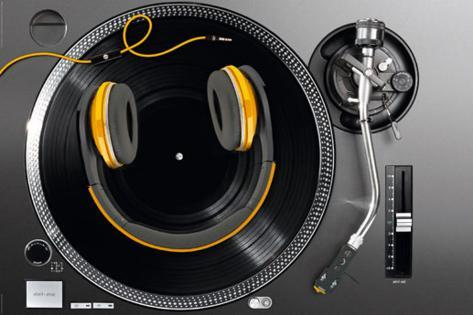 Turntable Smile Poster