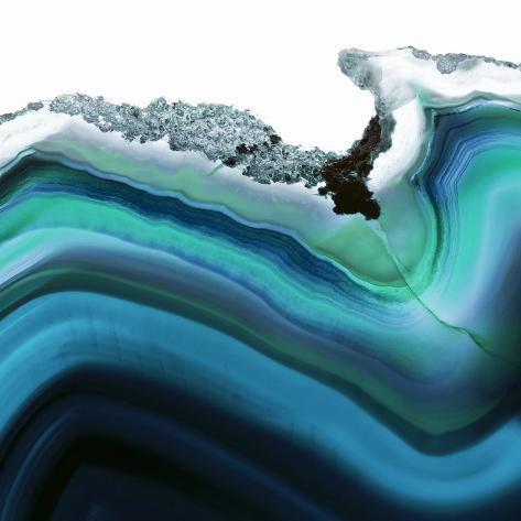 Turquoise Agate A Photographic Print