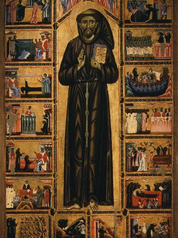 Altarpiece with Life of Saint Francis of Assisi Photographic Print