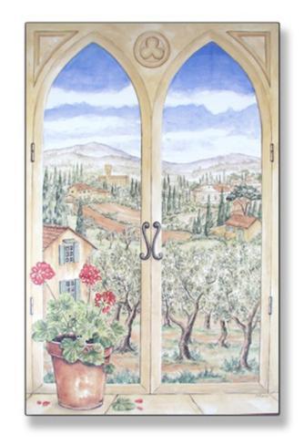 Tuscany Window Wood Sign