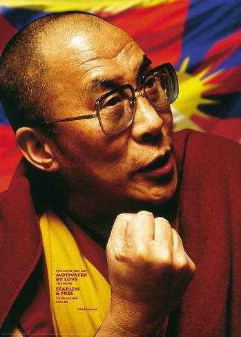 Tushita Love and Compassion - Dalai Lama Poster