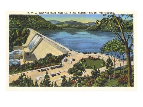 TVA Norris Dam, Tennessee Art Print