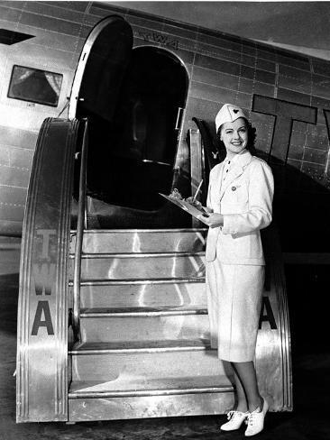 TWA Stewardess Photographic Print