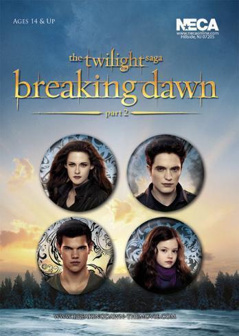 Twilight Breaking Dawn Part 2 - Edward, Bella, Jacob and Renesme Badge Pack Badge