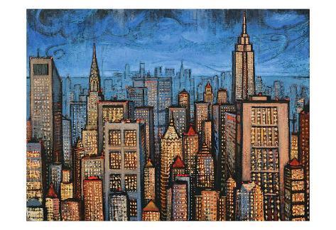 Twilight Skyline Art Print