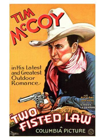 Two Fisted Law, 1932 Premium Giclee Print