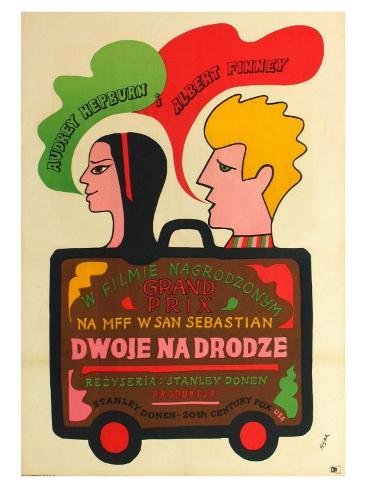 Two for the Road, Polish Movie Poster, 1967 Stampa artistica