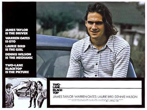 Two-Lane Blacktop, James Taylor, 1971 Impressão artística