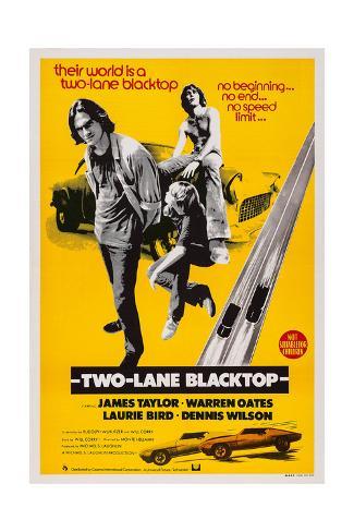 Two-Lane Blacktop, James Taylor, Laurie Bird, Dennis Wilson, 1971 Art Print