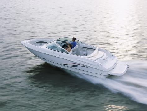 Two People in a Motorboat Lámina fotográfica