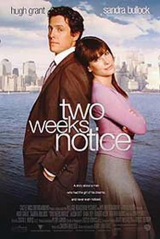 Two Weeks Notice Original Poster