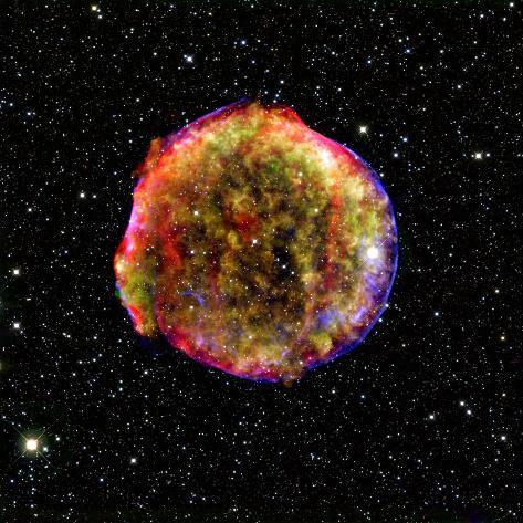 Tycho Supernova Stretched Canvas Print