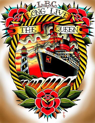 Long Live the Queen Stretched Canvas Print