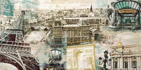 Paris Stretched Canvas Print